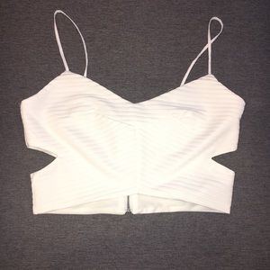 ZARA cut-out crop top